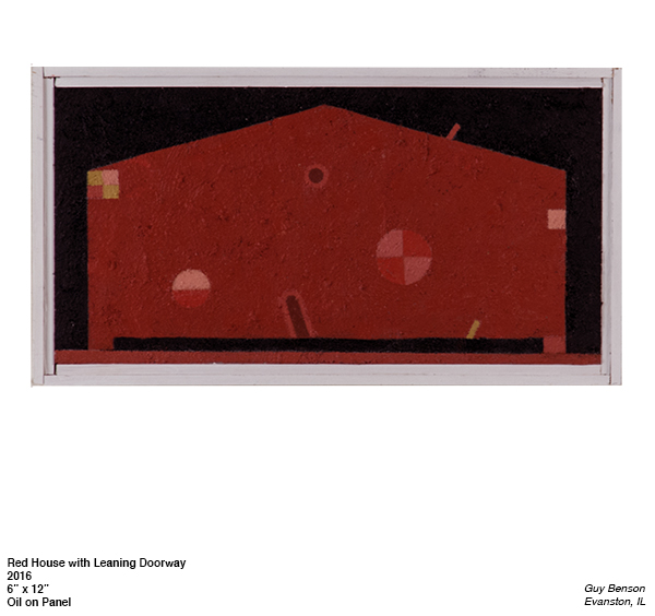 Guy Benson, Red House with Leaning Doorway