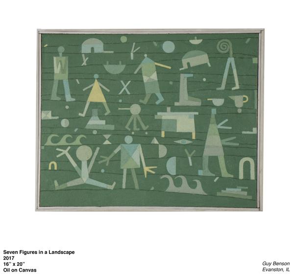 Seven Figures in a Landscape, Guy Benson